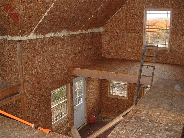 Sip cottage with log exterior for Sip floor panels