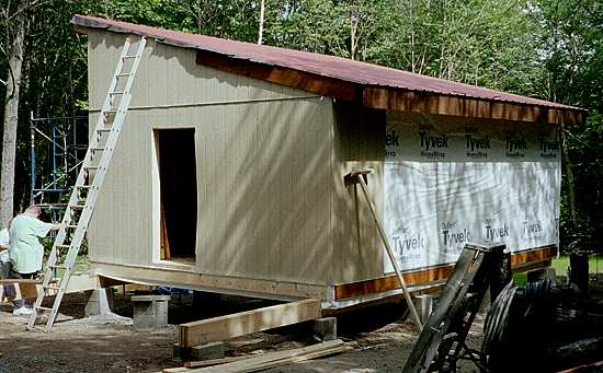 Simple cabins built by their owners