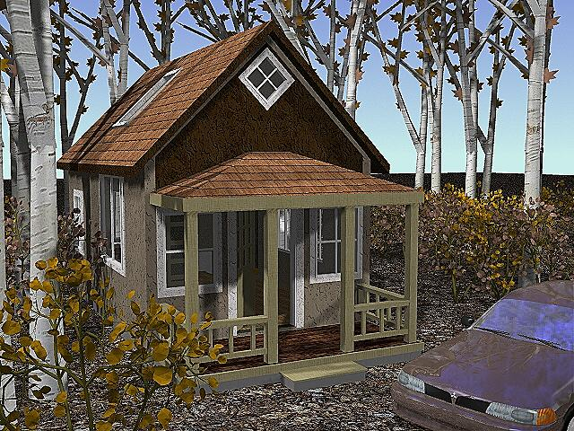 14x24 cottage home plan