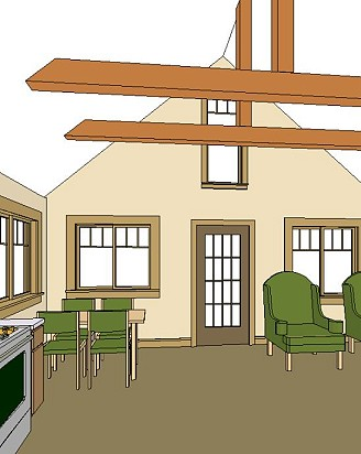 One Bedroom House Layout