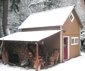14x18 workshop in snow