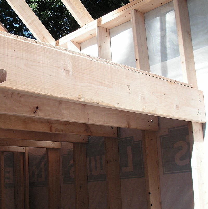 Loft joists bolted to 10' studs