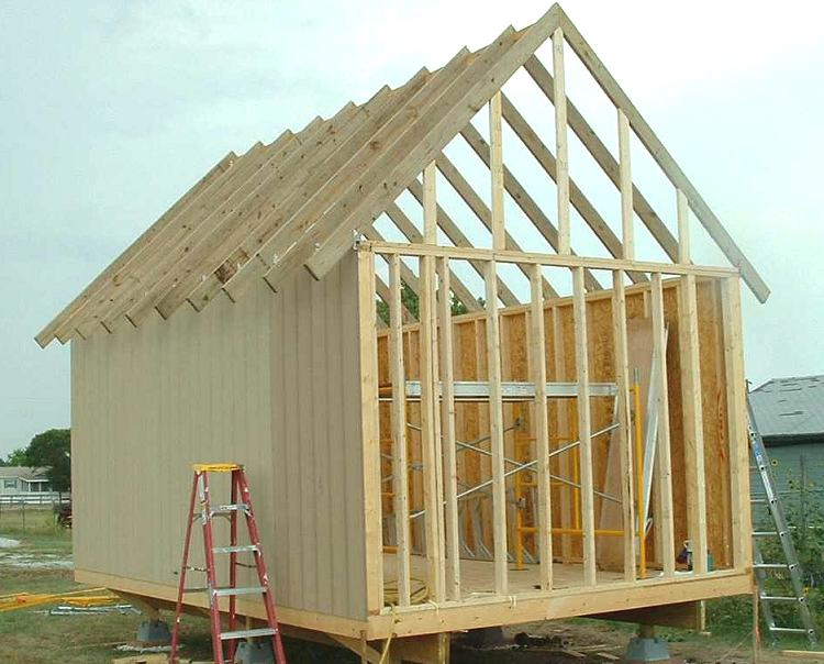 12 x 18 owner built cabin or storage shed for Shed roof cabin with loft