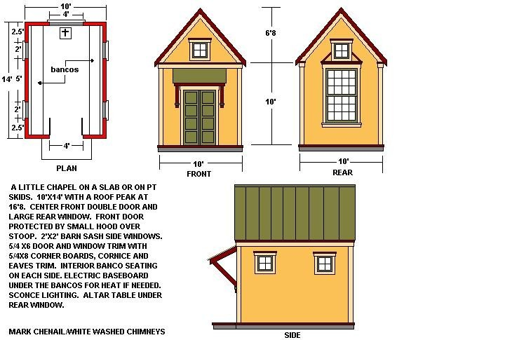 Building plans for wedding chapel joy studio design for Small chapel floor plans