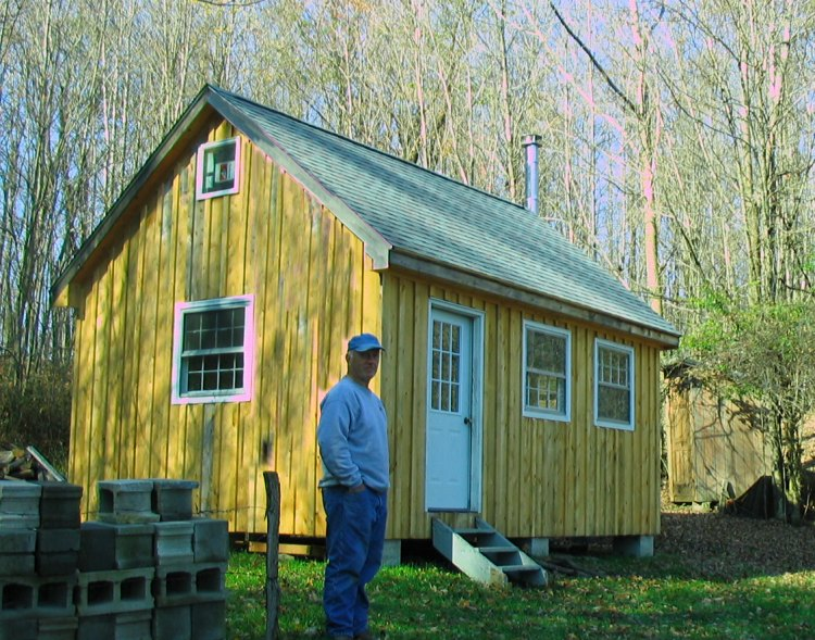 Small cabin plans with loft 10 x 20 for How to build a small cabin with a loft