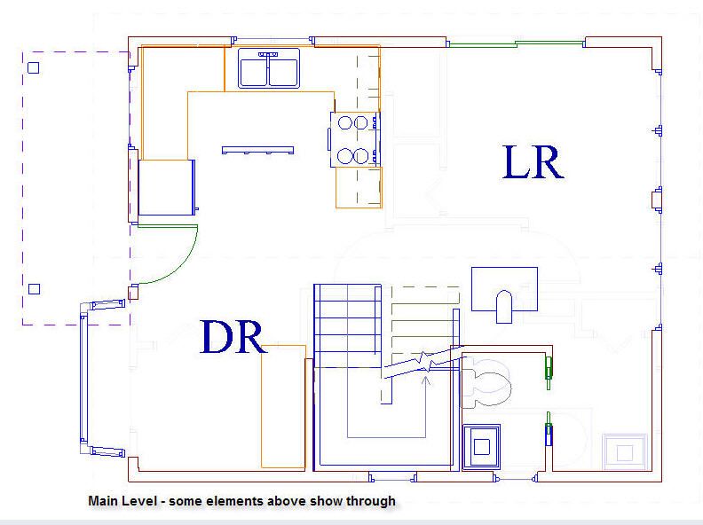 20x20 cottage main floor plan