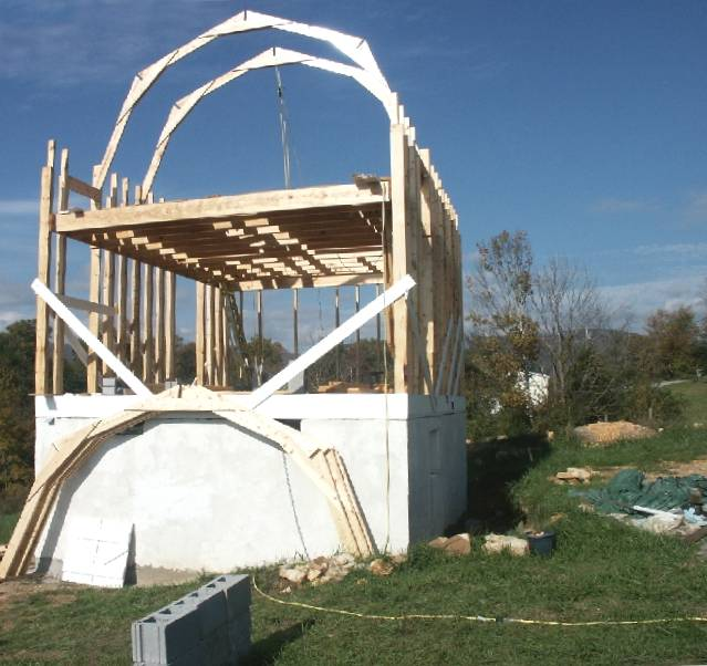 Gambrel Roof Frame With Basement