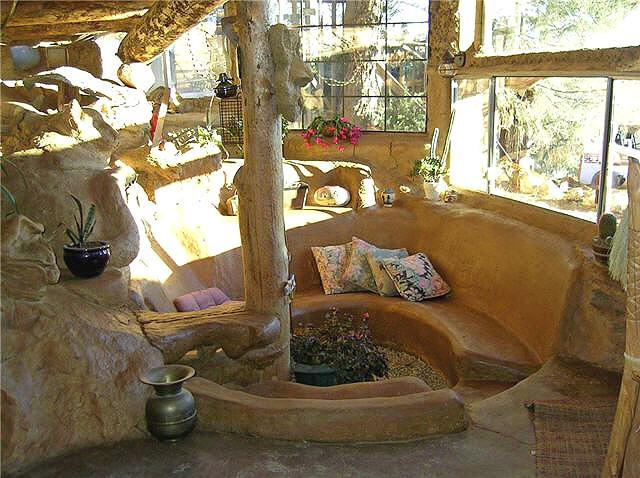 Underground cob house photo story for Natural home plans
