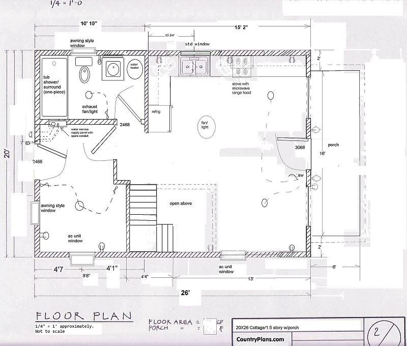 20x26 1 1 2 story camp cottage 1 1 2 story cottage plans