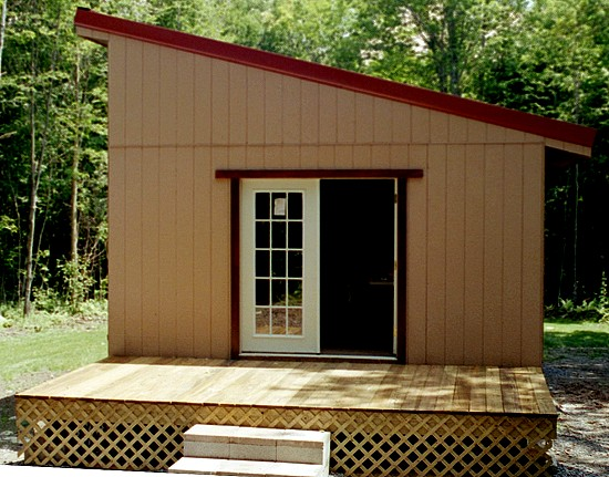 small shed roofed cabin - easy to build