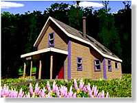 Owner built Victoria Cottage in Maine
