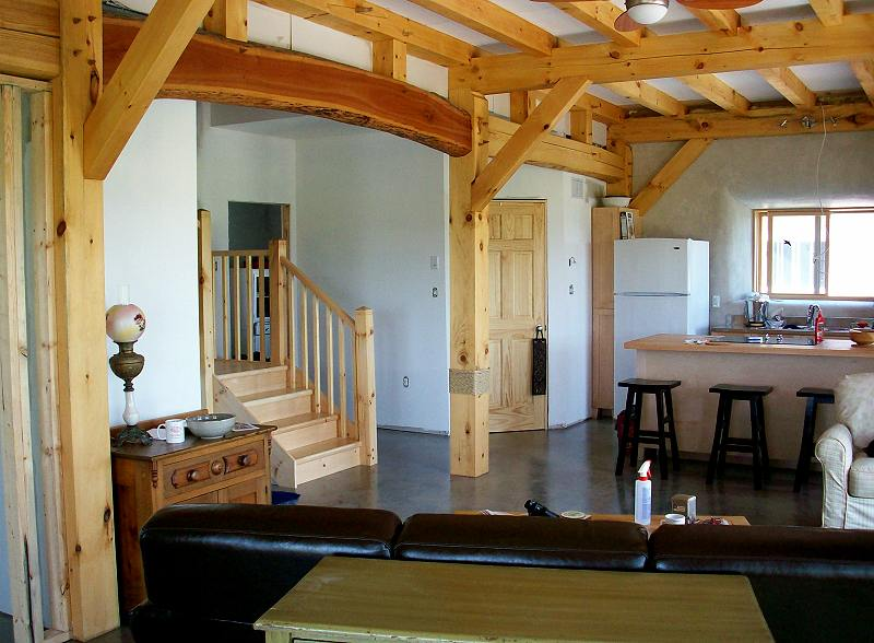 Strawbale saltbox for Timber frame straw bale house plans