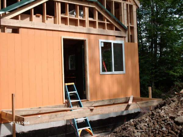 framing and flashing for hip roofed porch
