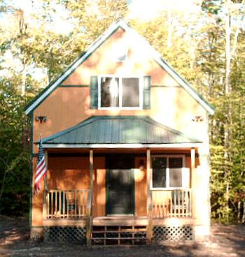 Front porch of 20x34 cottage cabin