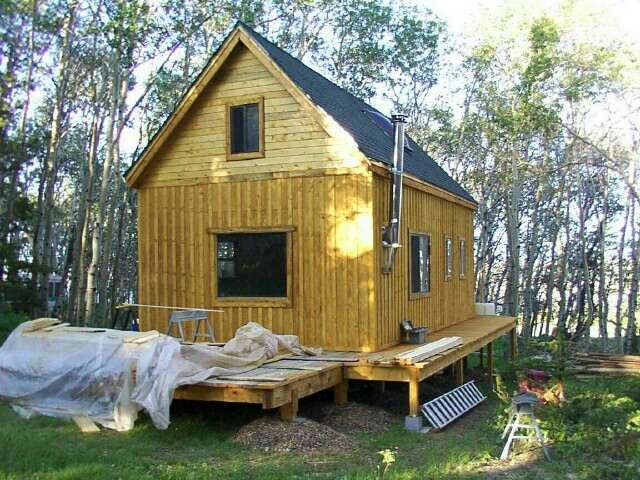 Small Log Cabin Plans Loft Woodworktips
