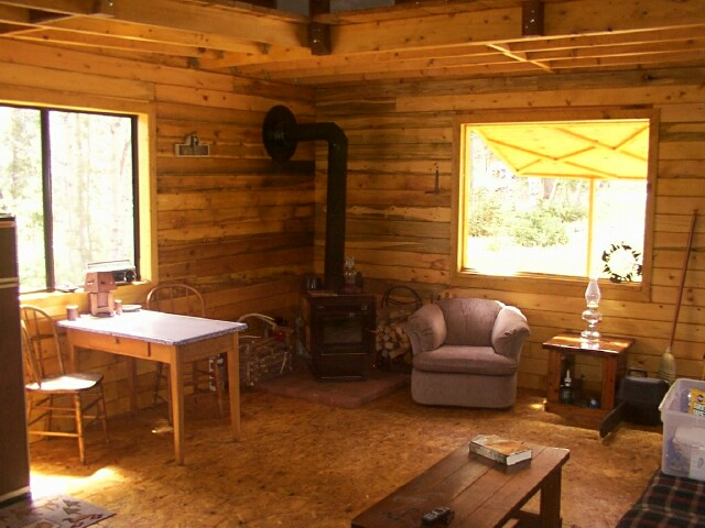 14 x 24 owner built cabin w loft truth is treason for Small cabin interiors photos