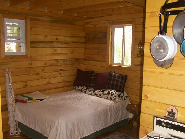 owner built 14x24 cabin bedroom - Small Cottage Bedrooms