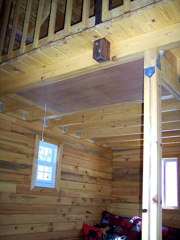 pull down ladder to cabin loft #1