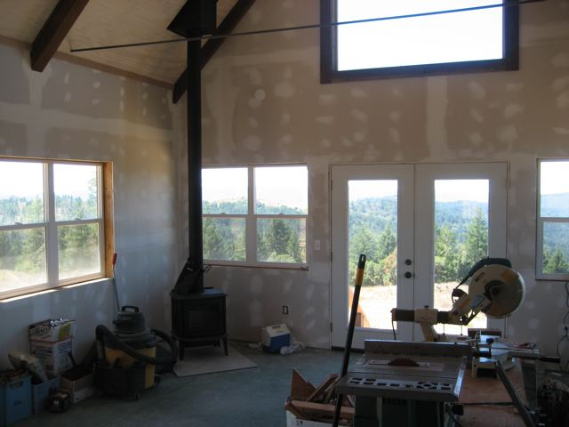 interior of drywall