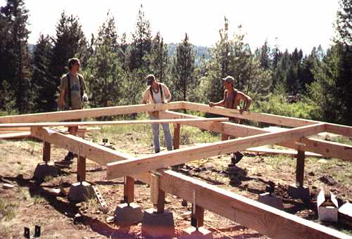 14 39 x 24 39 cleghorn cabin for How to build a post and pier foundation